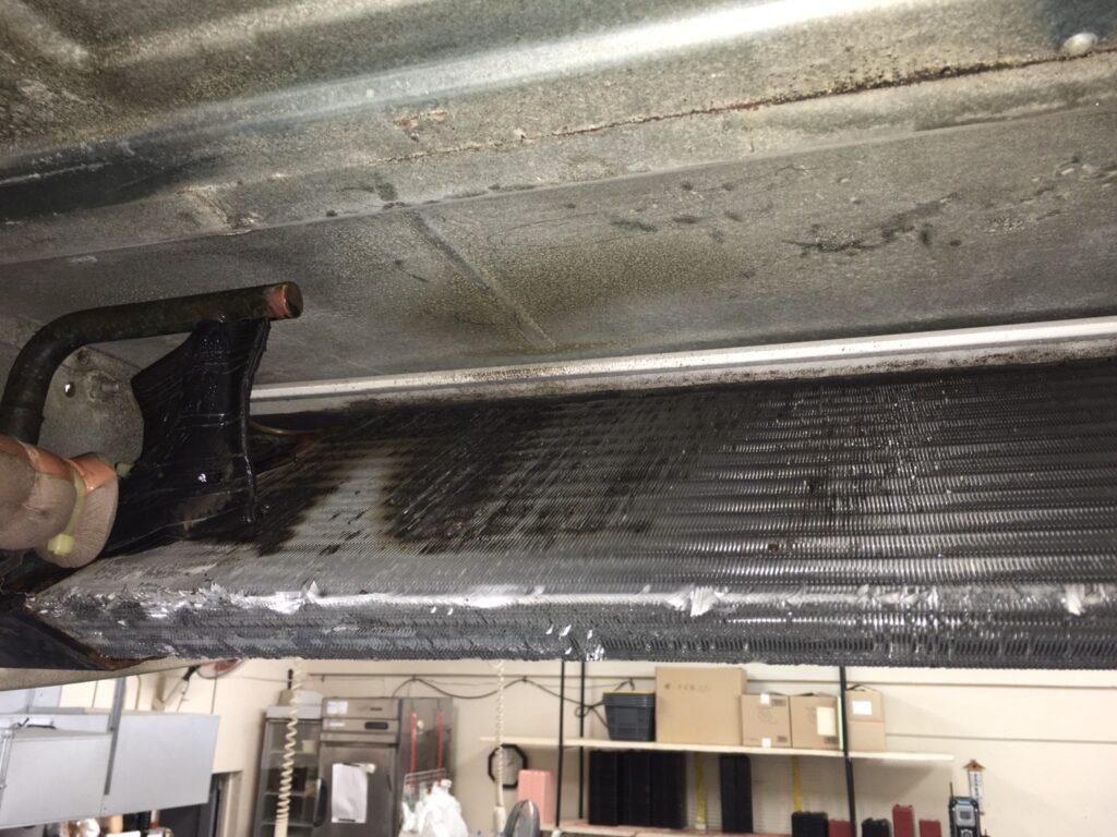 熱交換器の裏側の画像