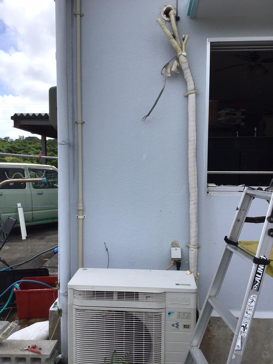 エアコン分解の画像